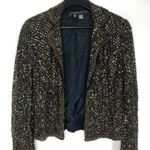 SALE Zara Gold Sequin Embellished Blazer Jacket